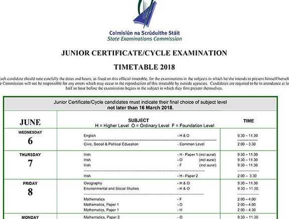 Exam Info for Friday 8th June